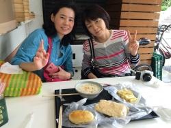 台湾朝ごはん食べてます。