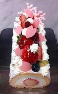 堂島ロール桜ケーキ