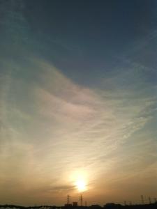 20160330柔らかな夕日