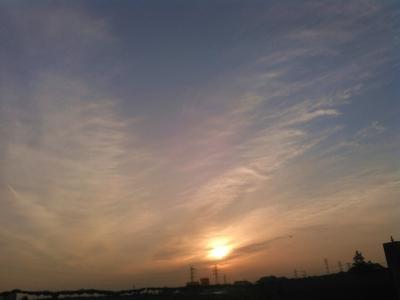 20160330柔らかな夕日2