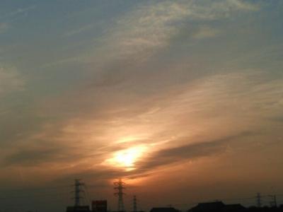 20160330柔らかな夕日3