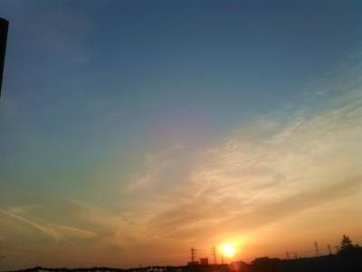 20160330柔らかな夕日5