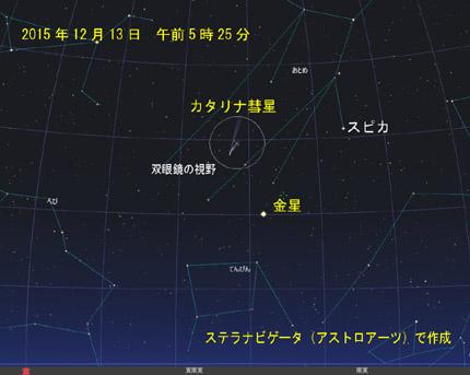 2015年12月13日 カタリナ彗星 星図