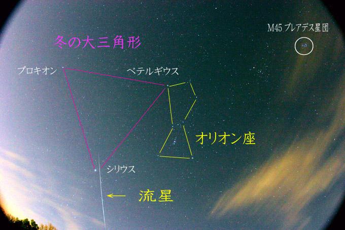 ふたご座流星群の火球