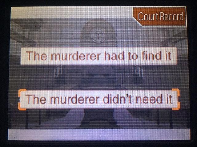 逆転裁判 北米版 真犯人が弾丸を持ち去った理由とは2