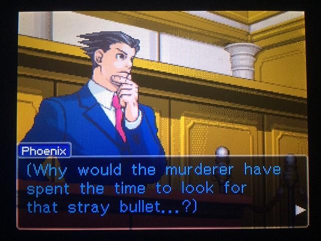 逆転裁判 北米版 真犯人が弾丸を持ち去った理由とは3
