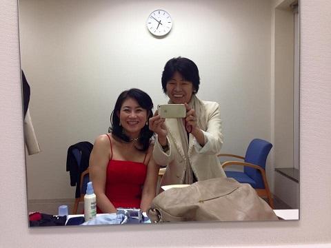 郁子さんと楽屋で