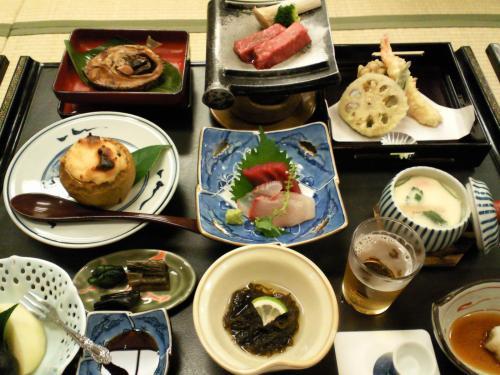 渋温泉ヤマト屋さんお料理(27.9.27)