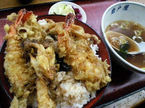 岩戸屋天丼大盛り(27.10.11)