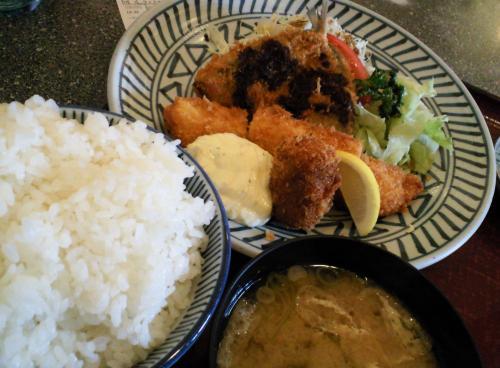 ミックスフライ定食(27.10.8)