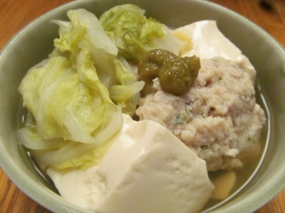 イカ団子と白菜の煮込み鍋小鉢1