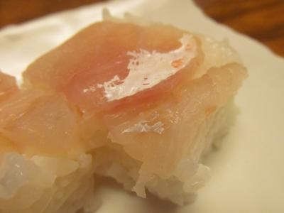 アマダイの箱寿司白アップ2