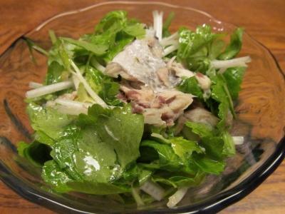 ゴマサバのコ2ンフィとホワイトセロリのサラダ