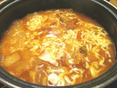 締めチーズ雑炊2