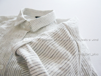 風を感じるシャツ半袖アップhoccori