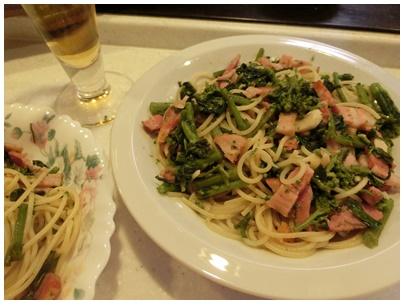 菜花のペペロンチーノ