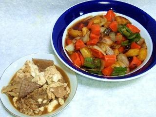 160325_3847豚肉と豆腐の味噌煮・チキンナゲットの酢鶏VGA
