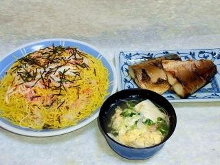 160408_3876 ちらし寿司・サバのみりん焼き・玉子と豆腐のお吸い物VGA