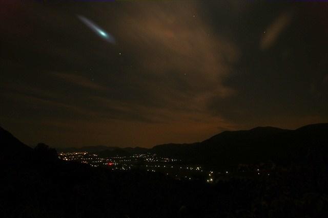 京都峠の夜景-3 インチキ彗星
