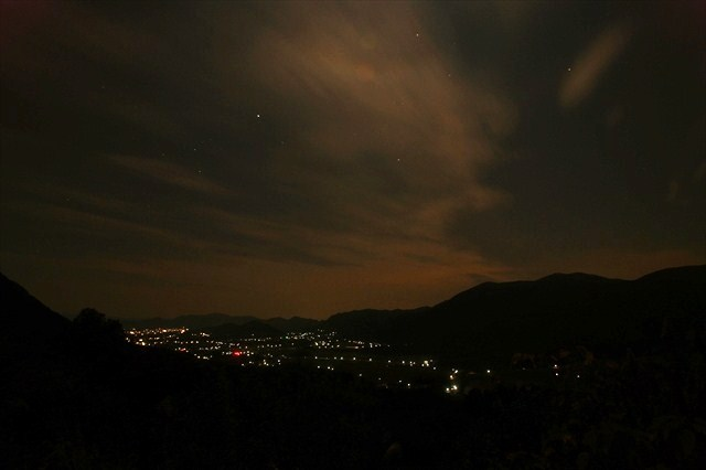 京都峠の夜景-3