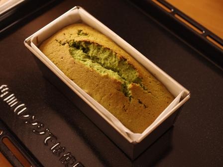 しっとり抹茶の春パウンドケーキ08