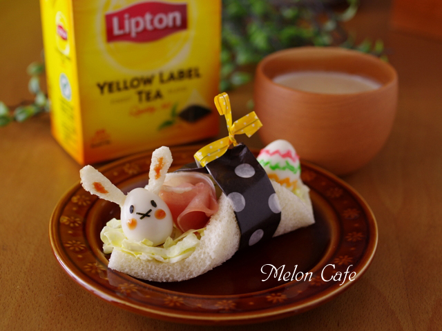 イースターウサギのサンドシナイッチ
