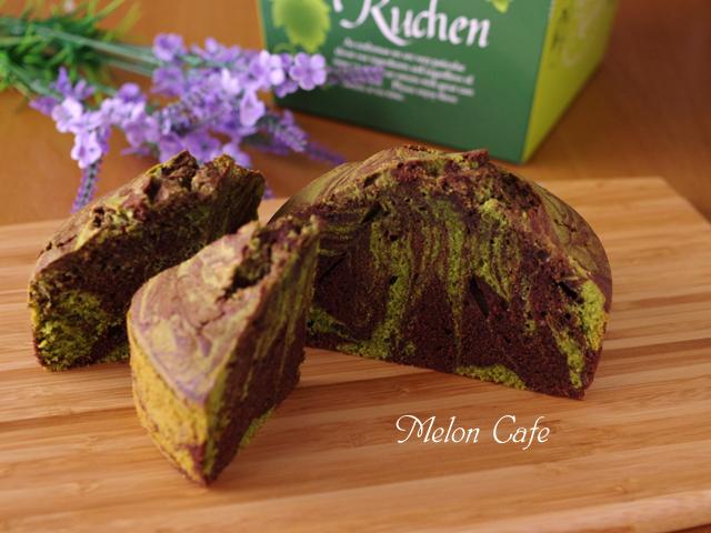 4月抹茶とチョコの簡単マーブルパウンドケーキ