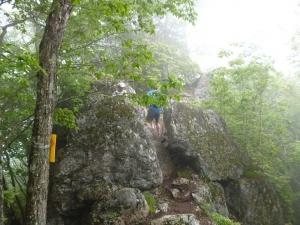 4稜線の岩場