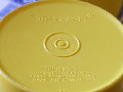 タッパーウェア キャニスター 黄色3