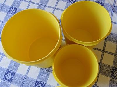 タッパーウェア キャニスター 黄色5