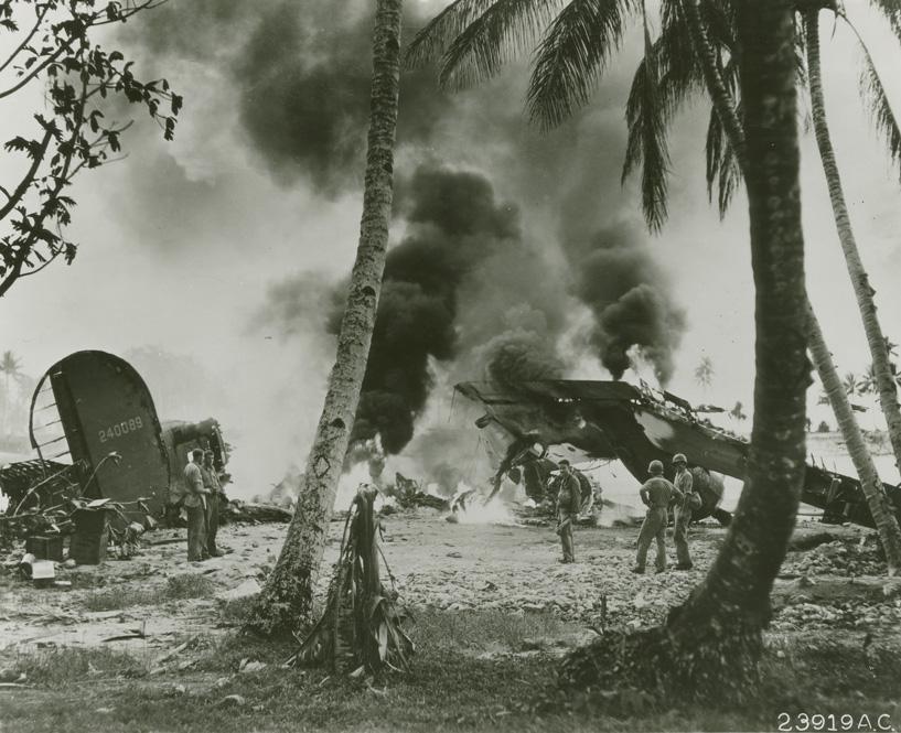 96式陸攻に爆撃されたフナフチ島