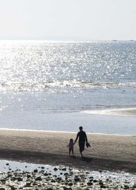 春の海二人一緒に親子 28.3.21