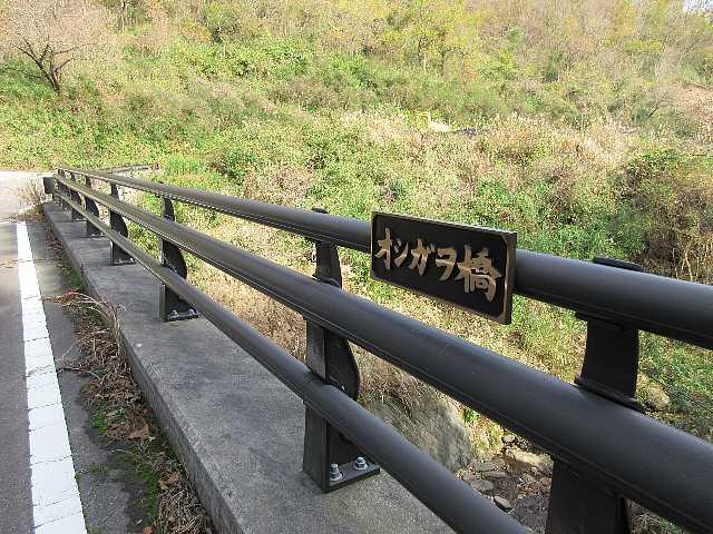 IMG_0207 舗装の林道を下ると基幹林道に出る、右にオシガオ橋を見て左へ進み直ぐ右へ自然歩道の標識あり、橋を渡って15分ほど歩き戻る12:20