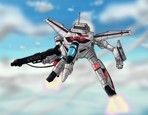 VF-1ガウォーク形態