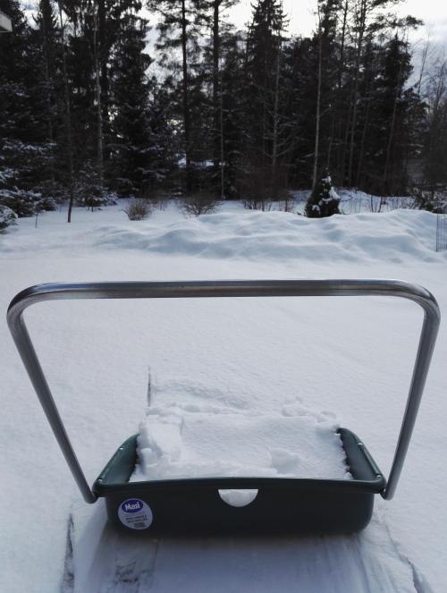 フィンランド 3月 雪かき
