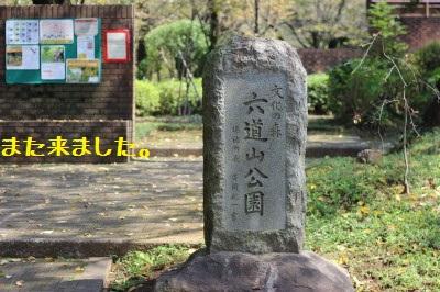 六道山公園に来ました。