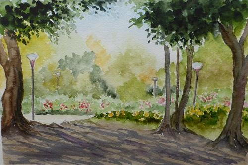 木陰から うつぼ公園