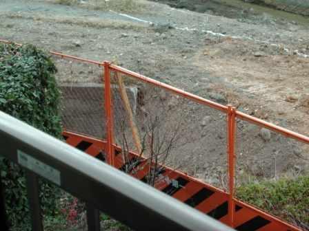 水路撤去後に土を入れる