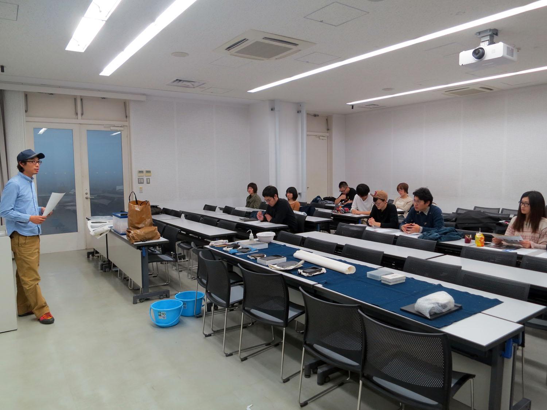 20151124 武蔵野美術大学 『硯と墨の世界』 講義風景2 講師:日本画家・為壮慎吾
