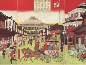 文明開化・日本橋付近