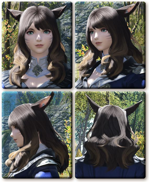 【FF14】3.1パッチ分の女性髪形追加(ミコッテ女性版)