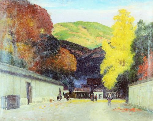 鹿子木孟郎 (1874-1941)京洛落葉