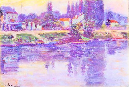 藤島武二 (1867-1943)セーヌ河畔 (2)