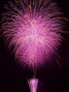 紫の花火その5