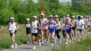 豊平川のマラソン