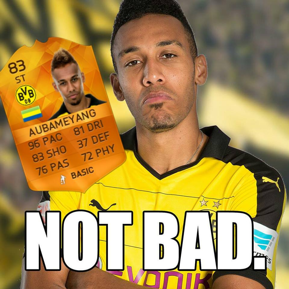 aubameyang not bad