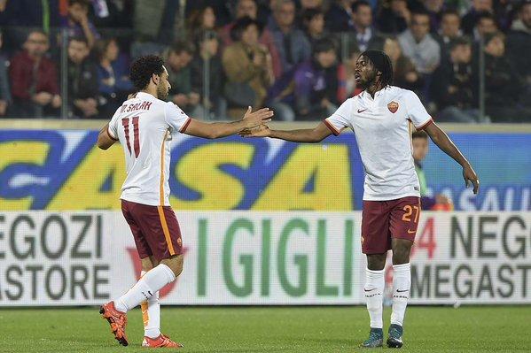 Il primo tempo si chiude con la Roma in vantaggio per 2-0