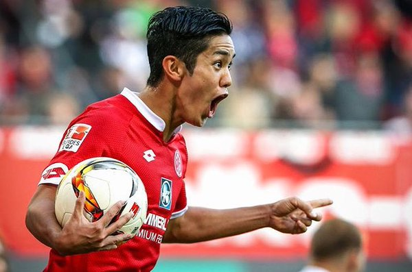 Muto scored a hat-trick today for Mainz