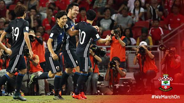 Another goal for @MayaYoshida3 as he helps Japan to victory against Singapore