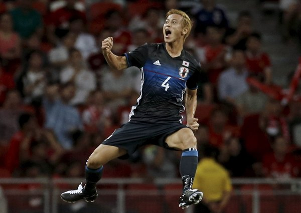 honda helps Japan to victory against Singapore